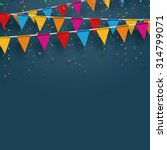 vector party flags with... | Shutterstock .eps vector #314799071