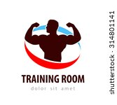gym vector logo design template.... | Shutterstock .eps vector #314801141