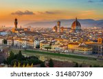 Sunset View Of Florence And...