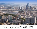 seoul city in daylight wiht han ... | Shutterstock . vector #314811671