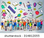 kids school education toys... | Shutterstock . vector #314812055