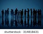 corporate business people... | Shutterstock . vector #314818631