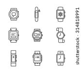 smart watches linear icon set.... | Shutterstock .eps vector #314818991