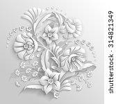 bouquet of decorative flowers...   Shutterstock .eps vector #314821349
