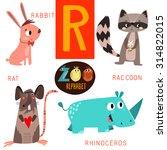 Cute Zoo Alphabet In Vector.r...