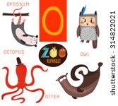 Cute Zoo Alphabet In Vector.o...