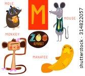 cute zoo alphabet in vector.m... | Shutterstock .eps vector #314822057