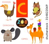 Cute Zoo Alphabet In Vector.c...