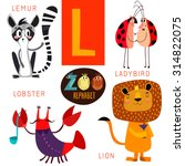 Cute Zoo Alphabet In Vector.l...