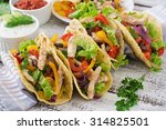 mexican tacos with chicken ... | Shutterstock . vector #314825501