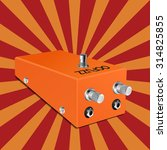 guitar ocfuzz pedal on sunbeam... | Shutterstock .eps vector #314825855