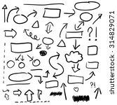set of hand drawn business...   Shutterstock .eps vector #314829071