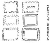 hand drawn black and white... | Shutterstock .eps vector #314835965