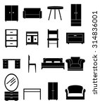 furniture icons set | Shutterstock .eps vector #314836001