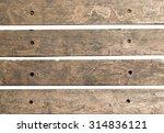 old wood piece signpost... | Shutterstock . vector #314836121