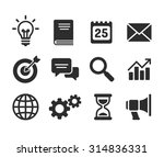 set of business icons. simple... | Shutterstock .eps vector #314836331