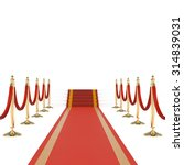 red carpet with red ropes on... | Shutterstock . vector #314839031