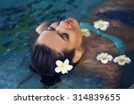 beautiful young woman with... | Shutterstock . vector #314839655
