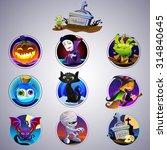 set of nine cartoon item for...   Shutterstock .eps vector #314840645