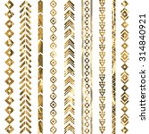 tribal geometric gold pattern.... | Shutterstock .eps vector #314840921