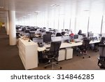 Large Open Plan Office Interio...