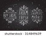 hand sketched typographic... | Shutterstock .eps vector #314849639