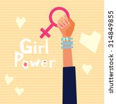 girl power vector illustration... | Shutterstock .eps vector #314849855
