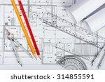 Architectural Plans  Pencils...