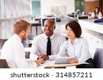 three office colleagues in a... | Shutterstock . vector #314857211