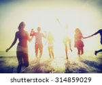friendship freedom beach summer ... | Shutterstock . vector #314859029