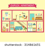 flat duplex apartment in cut....   Shutterstock .eps vector #314861651