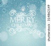 winter bokeh background with... | Shutterstock .eps vector #314862149