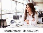female architect at her desk in ... | Shutterstock . vector #314862224