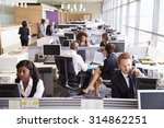 colleagues busy working at... | Shutterstock . vector #314862251