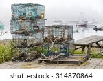 Lobster And Crab Pots On A Doc...