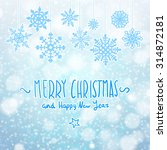 winter background banner and... | Shutterstock . vector #314872181