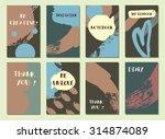 set of  modern hipster trendy ... | Shutterstock .eps vector #314874089