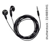 headphones  earphones ... | Shutterstock .eps vector #314885441