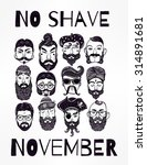 no shave november   holiday... | Shutterstock .eps vector #314891681