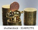 a piggy bank with a euro cent | Shutterstock . vector #314892791