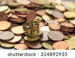 a piggy bank with a euro cent | Shutterstock . vector #314892935