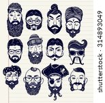 hand drawn set of men from... | Shutterstock .eps vector #314893049