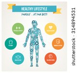 healthy body and lifestyle... | Shutterstock .eps vector #314894531