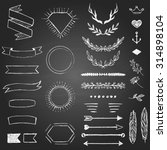 set of hand drawn elements for... | Shutterstock .eps vector #314898104