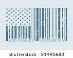barcode american flag vector...