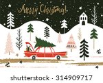 christmas greeting card. merry...   Shutterstock .eps vector #314909717