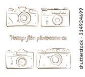 vector set of four vintage film ... | Shutterstock .eps vector #314924699