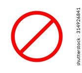 forbidden sign  transparent... | Shutterstock .eps vector #314926841