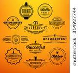 set of oktoberfest beer...   Shutterstock .eps vector #314927744