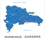 dominican republic map | Shutterstock .eps vector #314933945